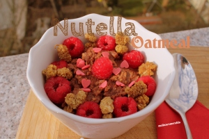 nutella oatmeal